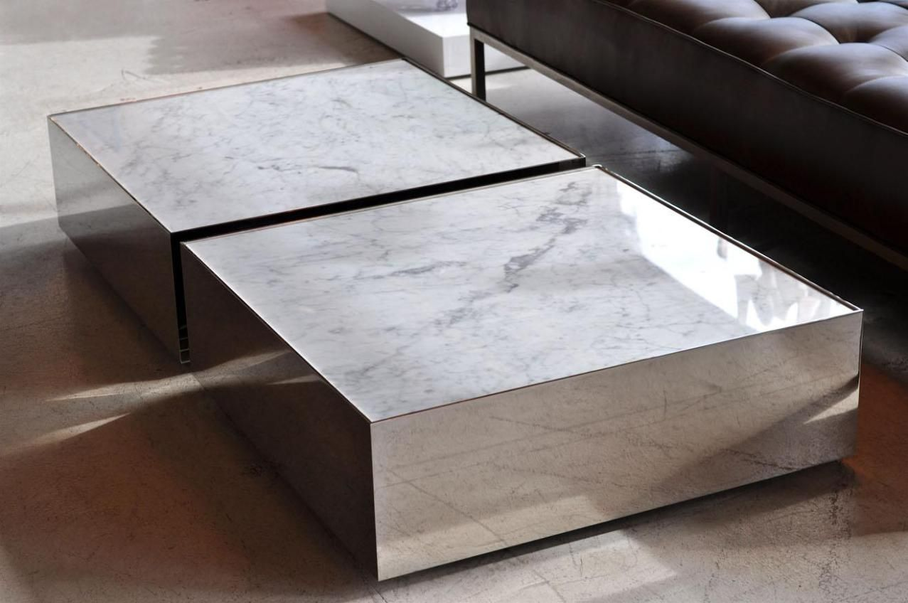Furniture Beige Granite Coffee Table Triangle Modern Table Formed