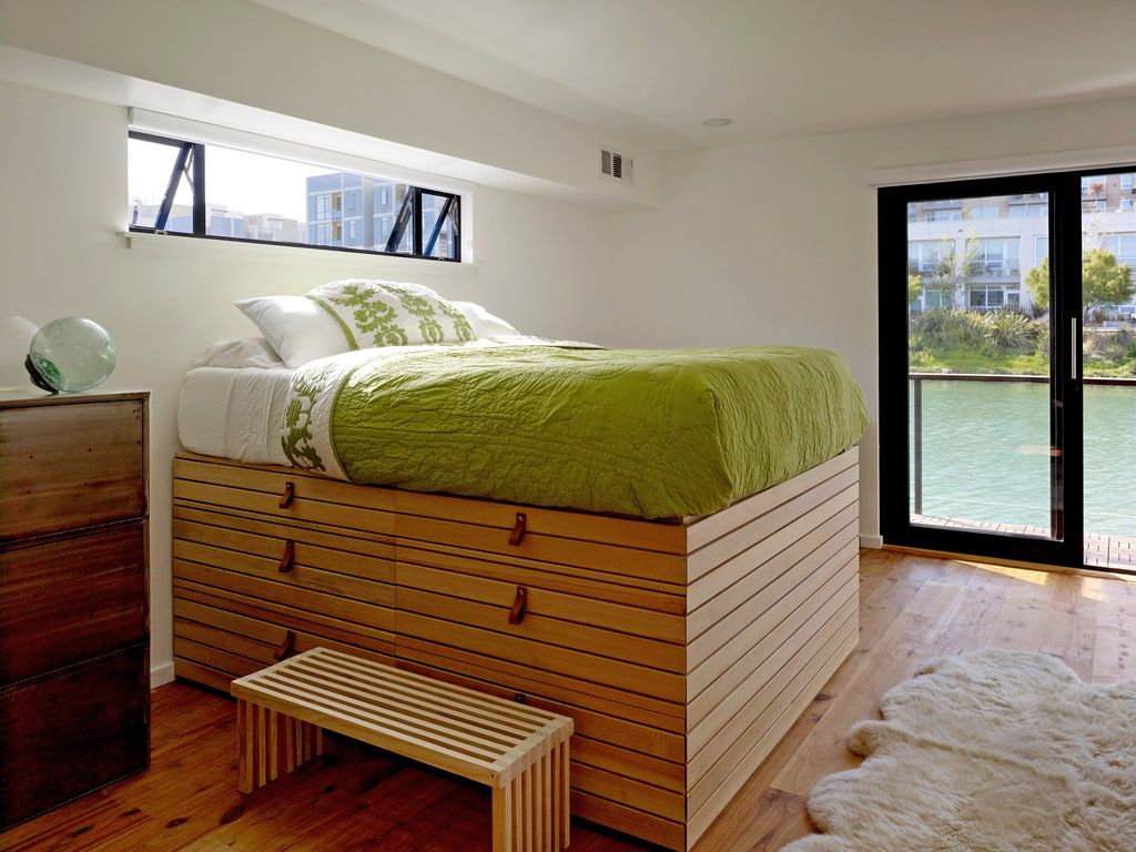 And The Best Part Is No Grass To Mow Bed Design Bed Storage Floating House