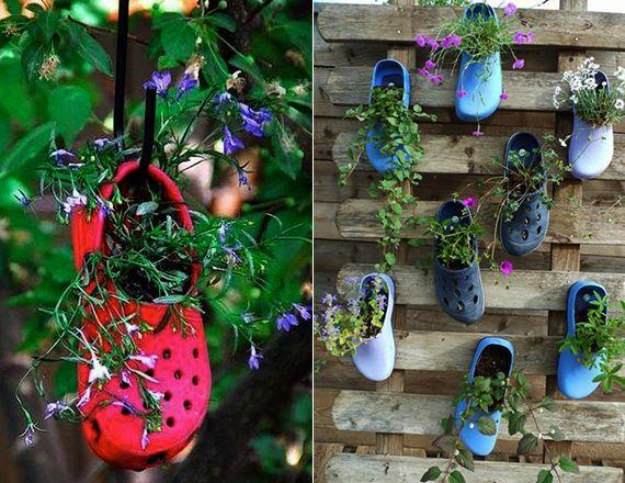 blumendeko ideen für vertikalen garten aus paletten und ... - Ideen Fur Den Garten Kreativ