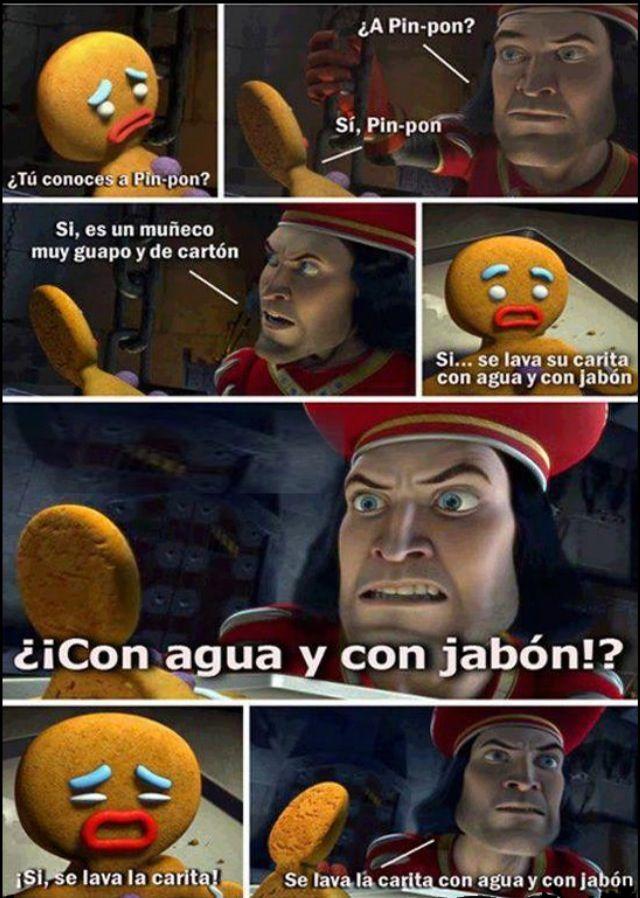 I Love Watching Shrek In Spanish Makes It Even Funnier Lol Memes Shrek Imagenes Humoristicas Lord Farquaad