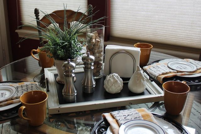 Simple Everyday Table Dining Table Decor Everyday Kitchen Table