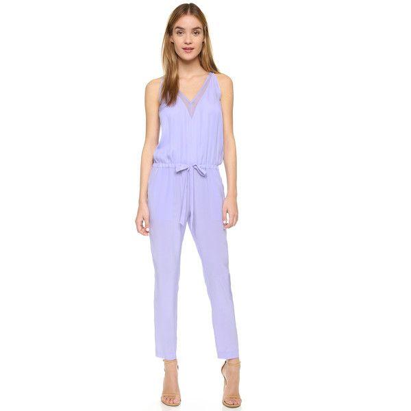 fb25d2787 Mason by Michelle Mason Chiffon Panel Silk Jumpsuit ($560) ❤ liked on  Polyvore featuring jumpsuits, lilac, mason by michelle mason, chiffon  jumpsuit, ...