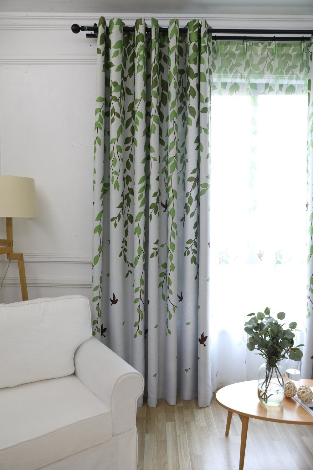 Blackout Room Darkening Window Curtains Panels For Bedroom Green