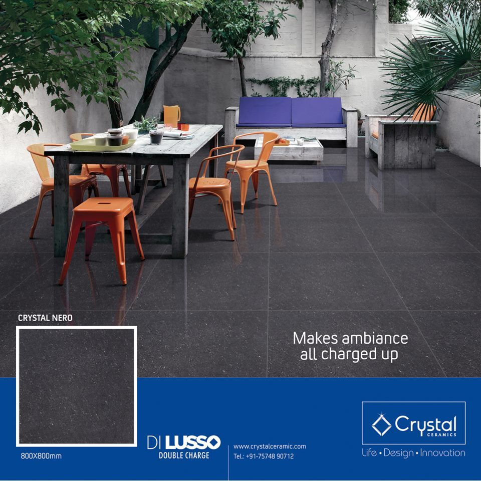 Makes Ambiance All Charged Up Crystal Nero 800x800mm Dilusso Double Charge Tiles From Crystal Cera Outdoor Furniture Sets Outdoor Decor Outdoor Furniture