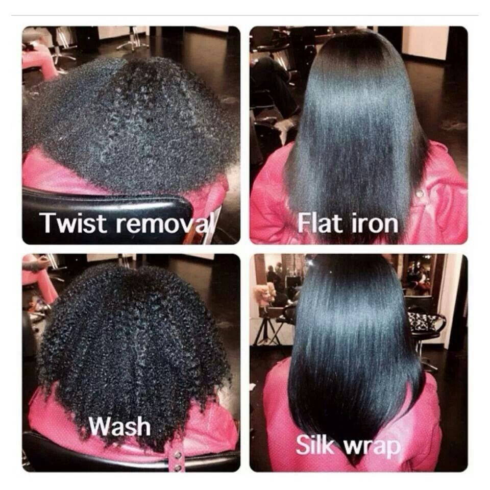 Beautiful!   Straightening natural hair, Silk press natural