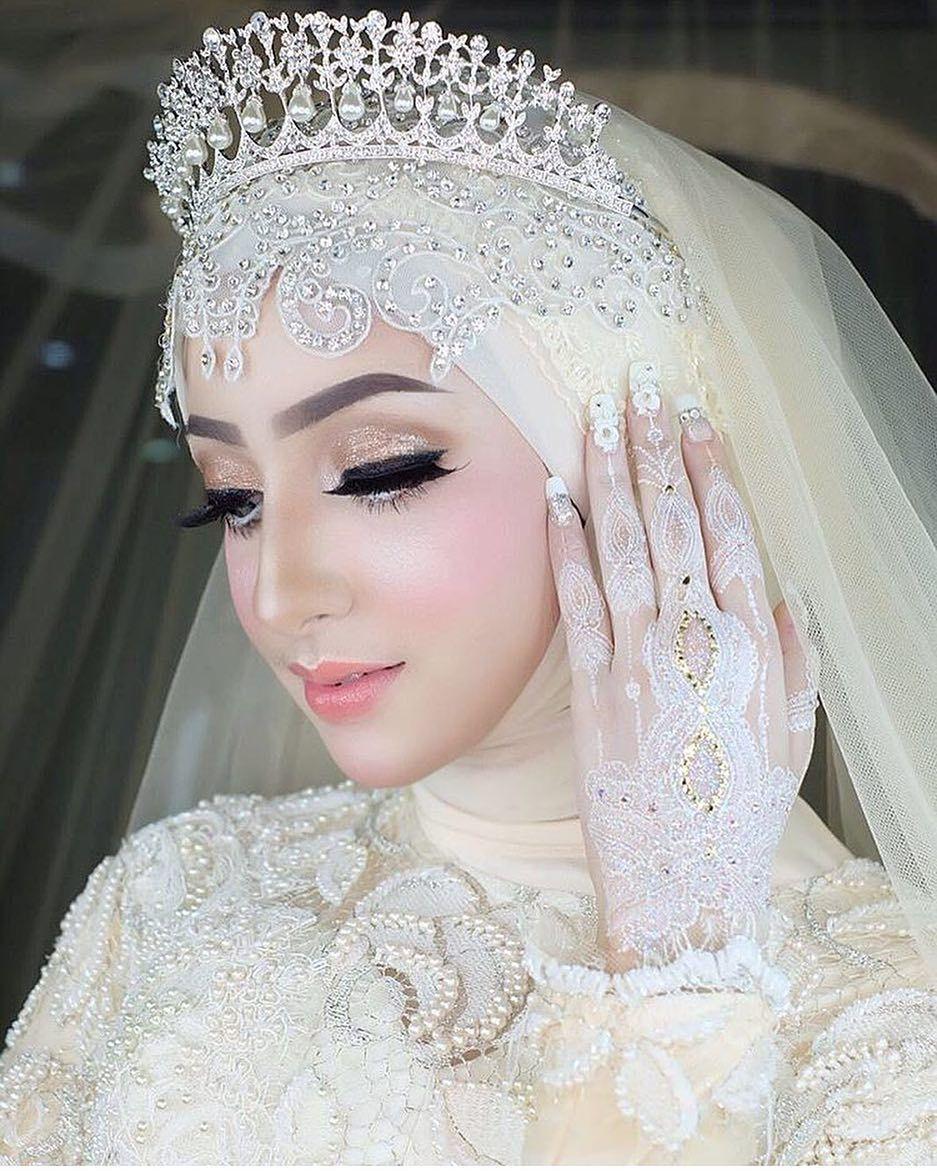 Hoffentlich Die Beste Make Up Inspiration Von Ihm Hijabi Wedding Malay Wedding Dress Muslimah Wedding