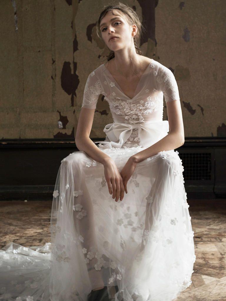 Vera A Line Short Sleeve Wedding Dress