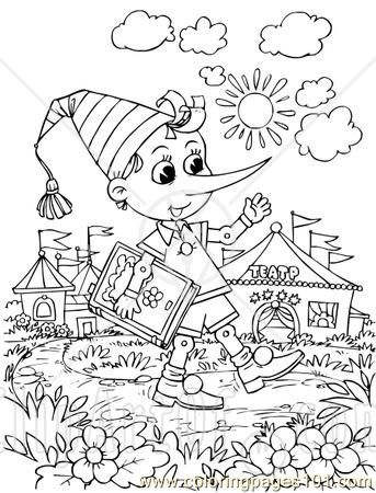 pinocchio 3 coloring page - free printable coloring pages