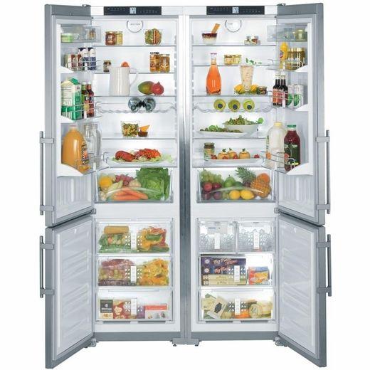 Sbs26s1 Liebherr 48 Cabinet Depth Refrigerator Freezer Combination Stainless Steel Side By Side Refrigerator Refrigerator Bottom Freezer Refrigerator