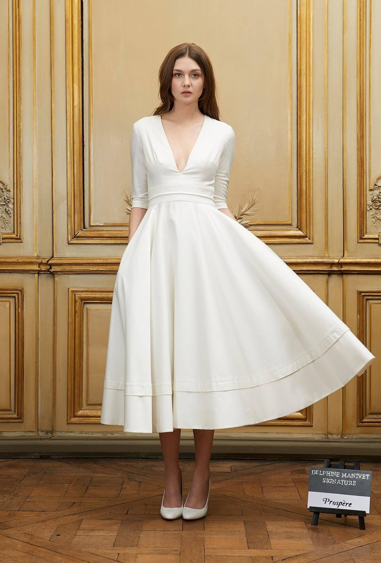 A line v neck cap sleeve ankle length with satin prom for Ankle length wedding dress with sleeves