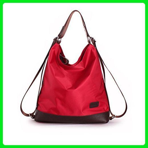 f8158597e9ff Mily Womens Nylon Waterproof Shoulder Bag Hand Bag Cross Body Bag Red - Shoulder  bags ( Amazon Partner-Link)