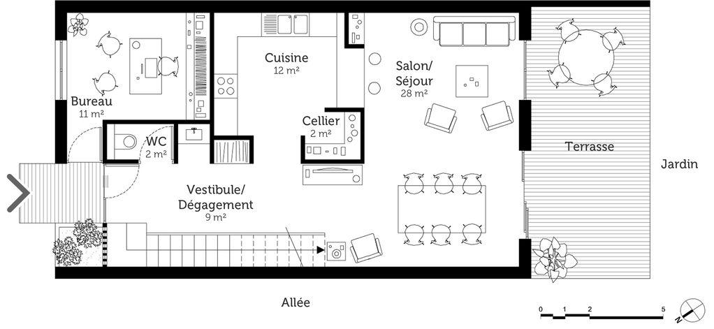 Beau Plan De Maison En Longueur #1 - Plan Maison 224 233tage 130 - Plan Maison En Longueur