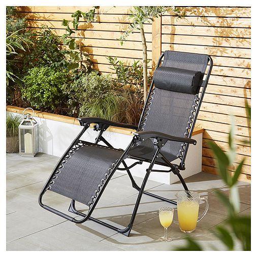 Patio Furniture Livermore Ca: Tesco Direct: Culcita Zero Gravity Texteline Relaxer Chair