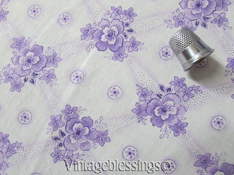 Bty Romantic Vintage 20s French Lavender White Delicate Floral Cotton Fabric 30 Vintageblessings French Lavender Vintage Fabrics Cotton Fabric