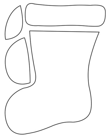 printable christmas stocking template free  Christmas Stocking Pattern Printable | Free Christmas ...