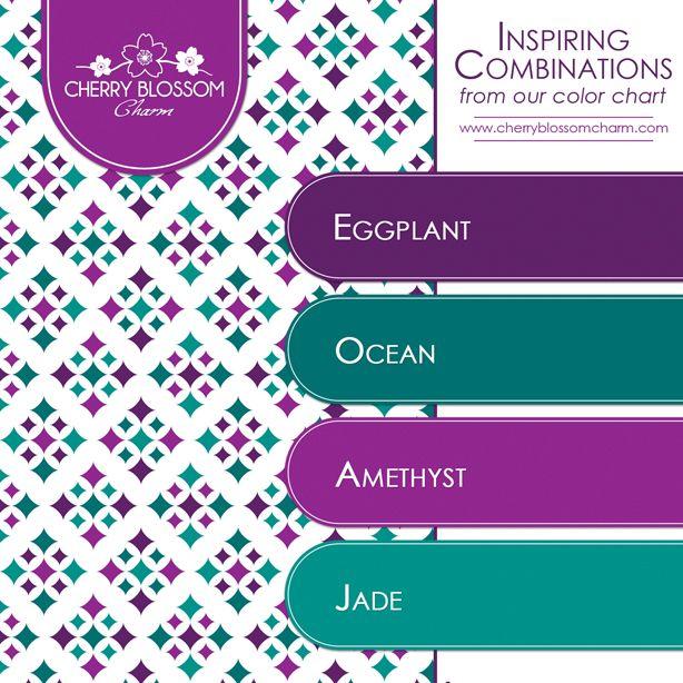 purple jewel tone color combination - amethyst eggplant jade ocean