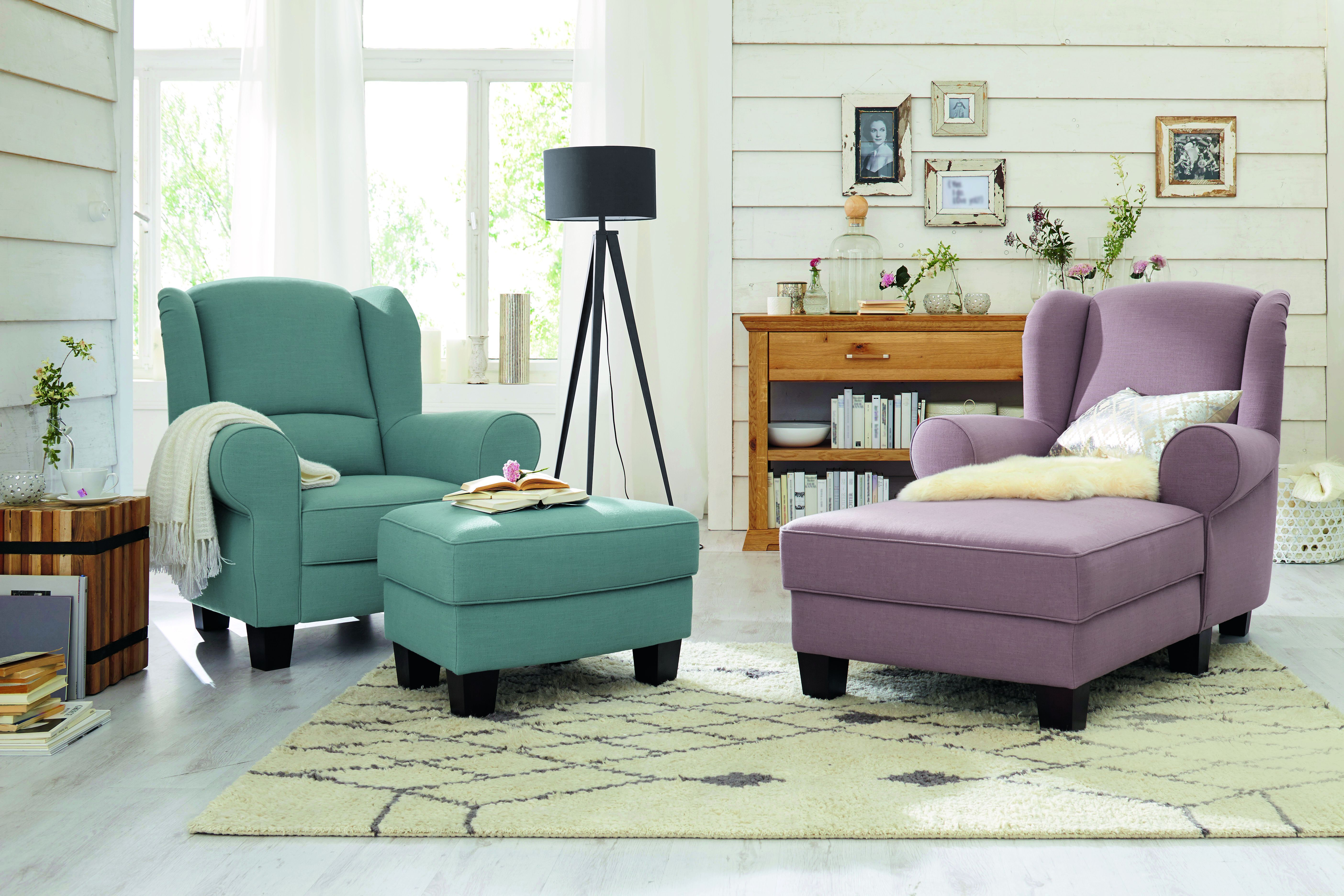 Farbenfrohe Polstermöbellierung Endner Wohnideen Hochwertige Möbel Ohrensessel Wohnzimmer Ecken