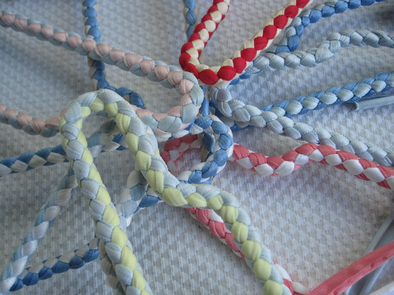 Vintage Braided Ribbon Hangers | Organizing/Misc great ideas ...
