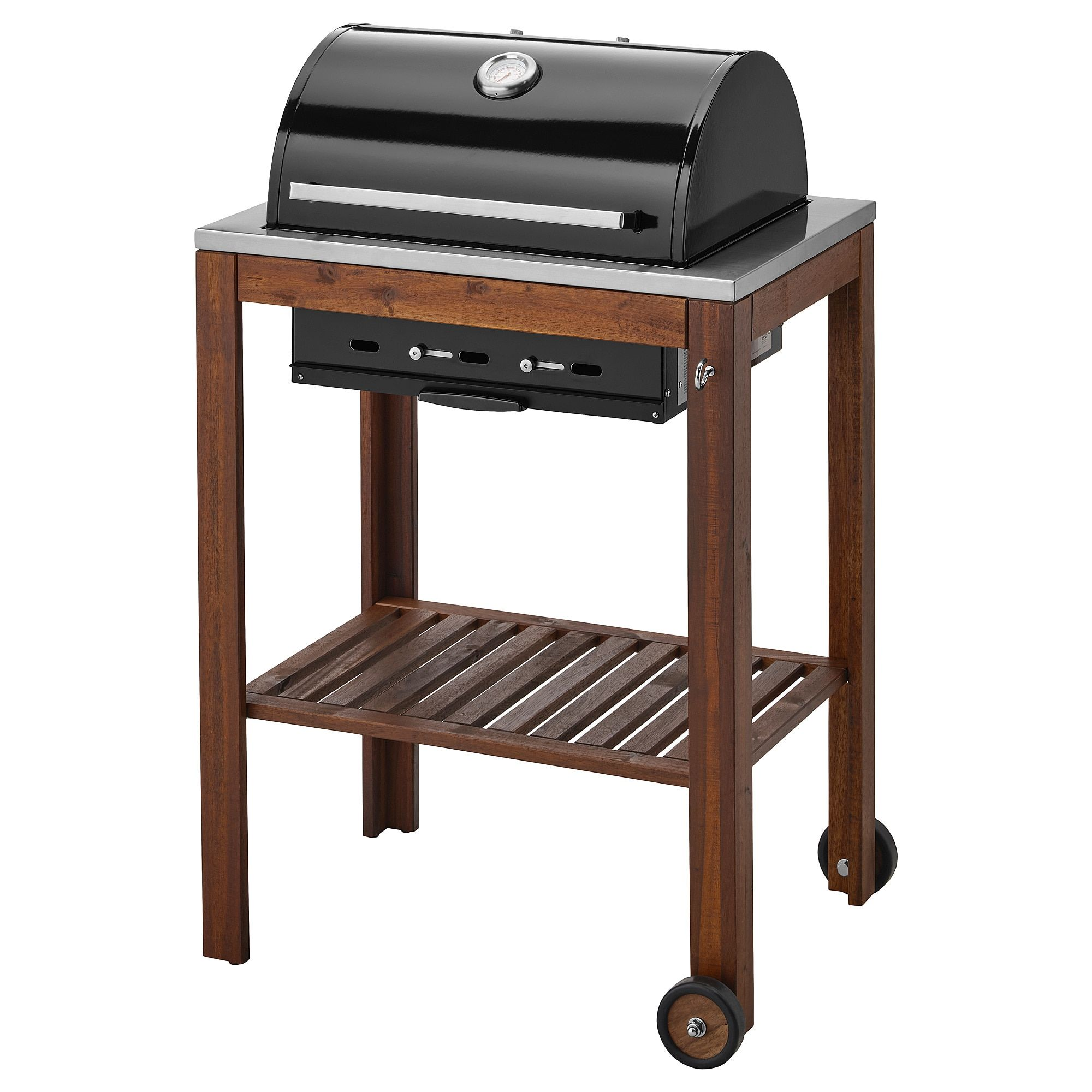 Ikea Barbecue Charbon De Bois ikea applaro / klasen brown stained charcoal grill | ikea