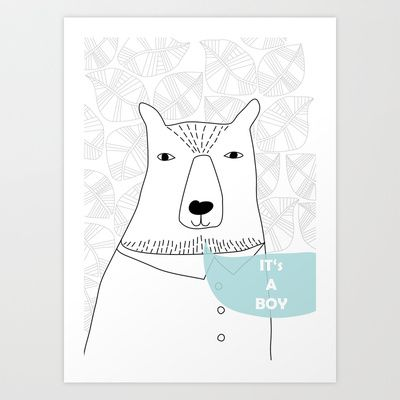 Its a Boy Art Print by Maedchenwahn - $17.00