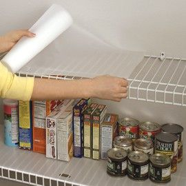 Prevent Small Items From Falling Through Wire Shelves