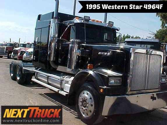Our Featured Truck Is A 1995 Western Star 4964f 60 Stand Up Sleeper Detroit 12 7 Liter 60 Series Eng 470 Hp 13 Spd Trans Air Ride Sups 24 5 Tires Autos