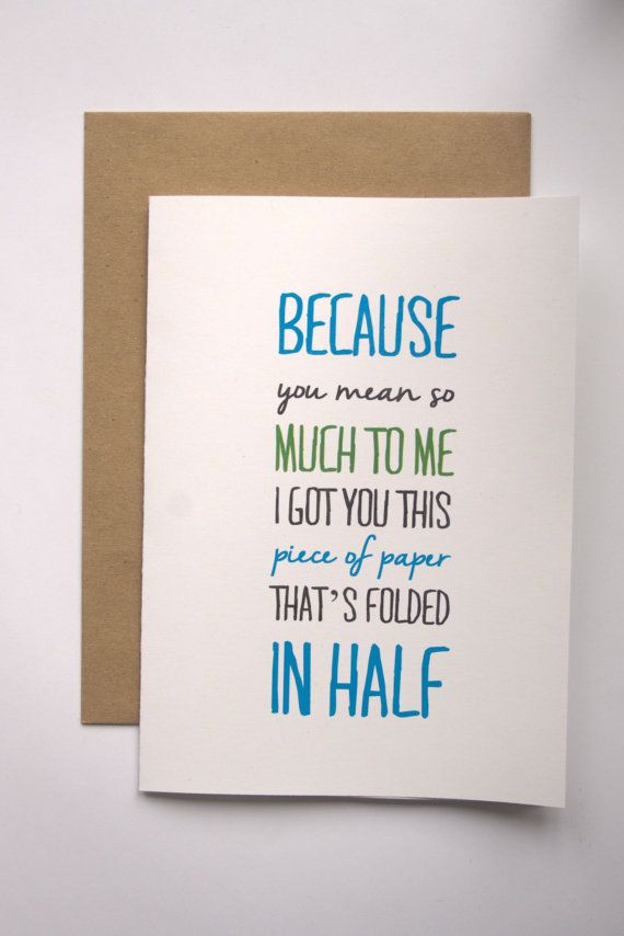 Funny All Occasion Card Cheeky Greeting Card Humorous Friend