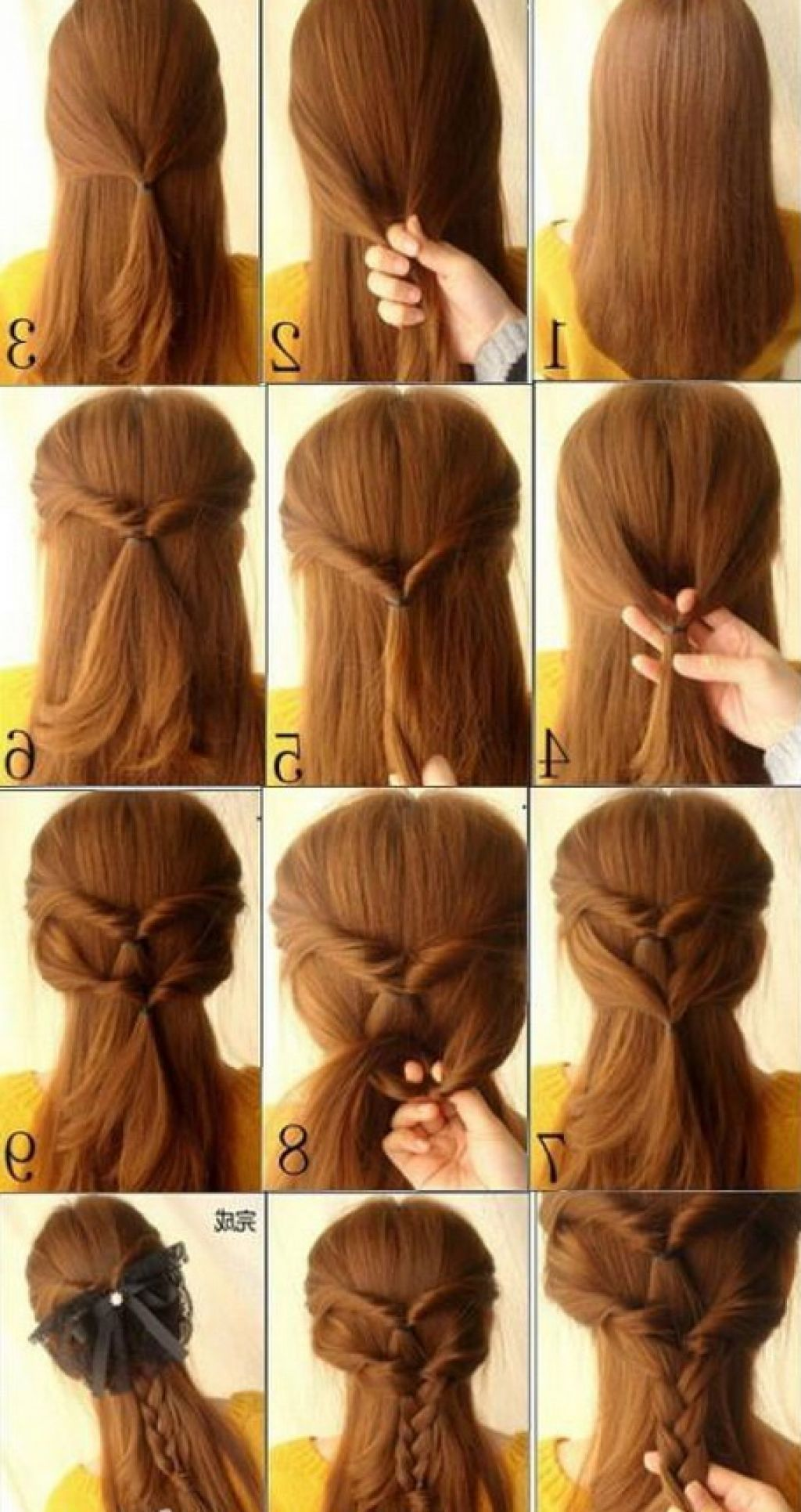 Cute Simple Hairstyles For Long Hair Long Hairstyle Galleries Hair Styles Diy Hairstyles Long Hair Styles