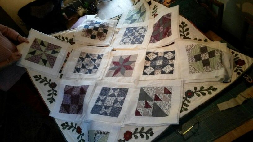 My pioneer quilt layout
