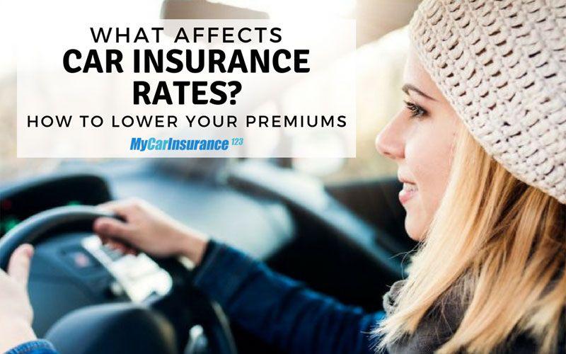 Factors that affect car insurance rates car insurance