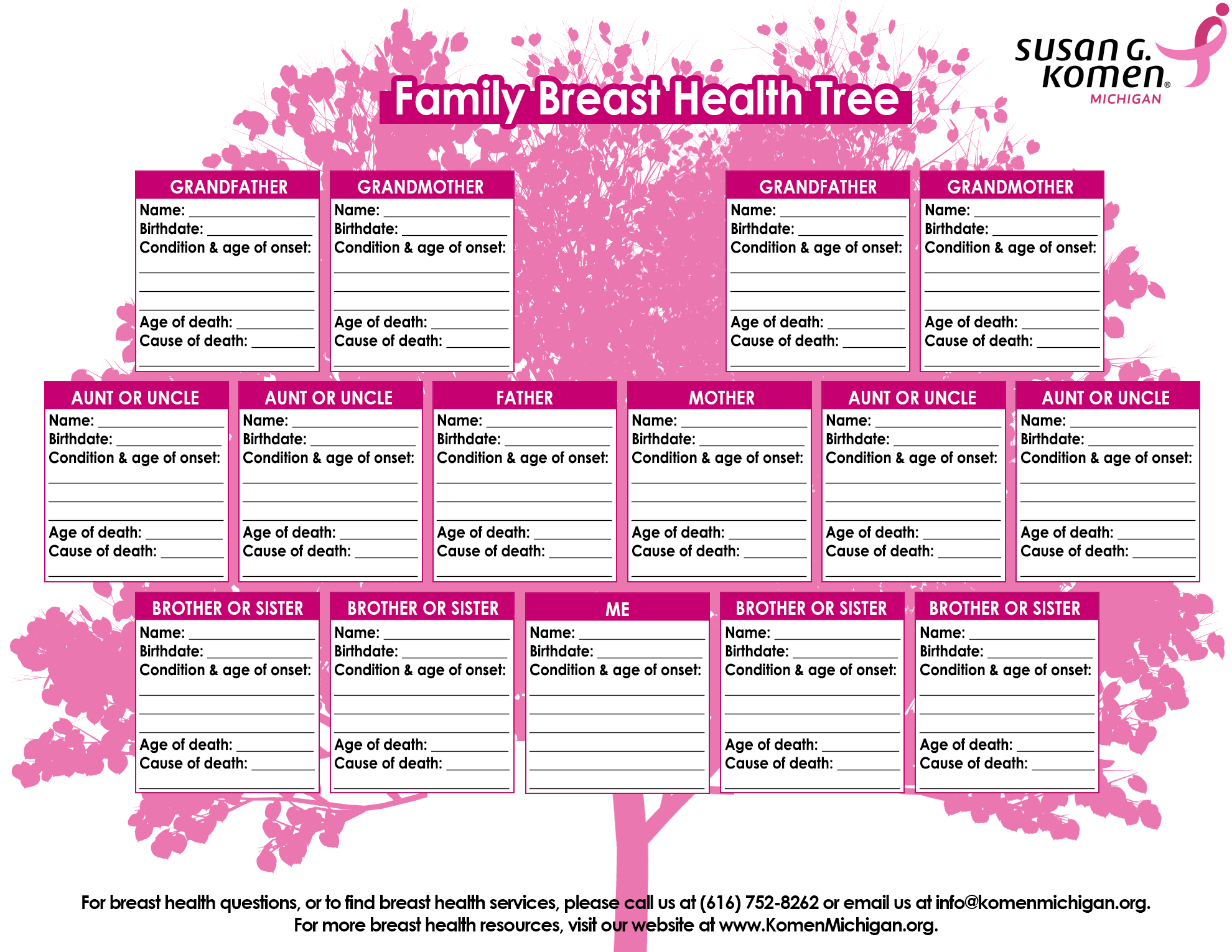 Family Health History Tree Template Limatetreault Family Tree