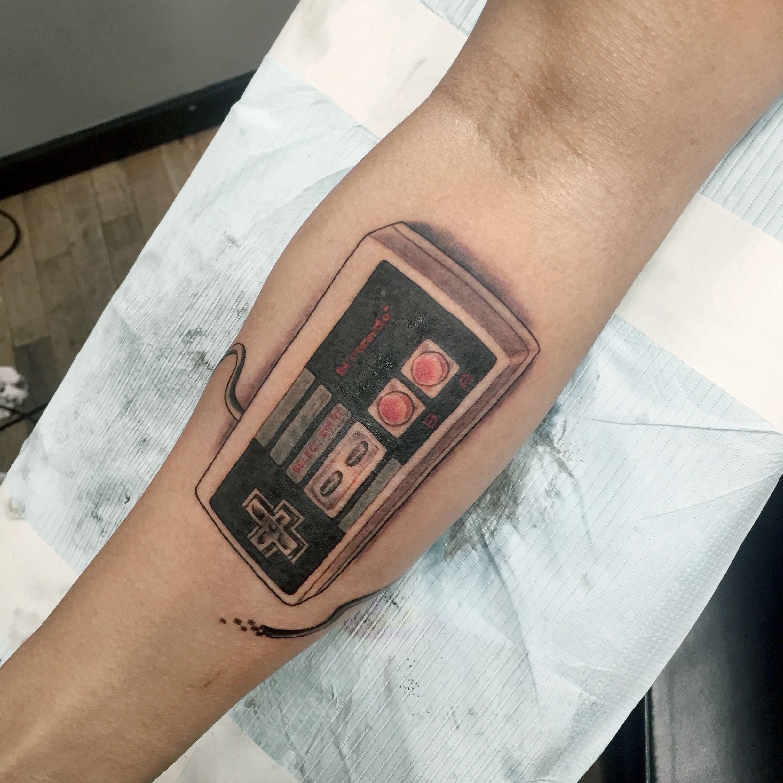 Custom Nintendo Nes Controller Armband Nintendo Tattoo Tattoos
