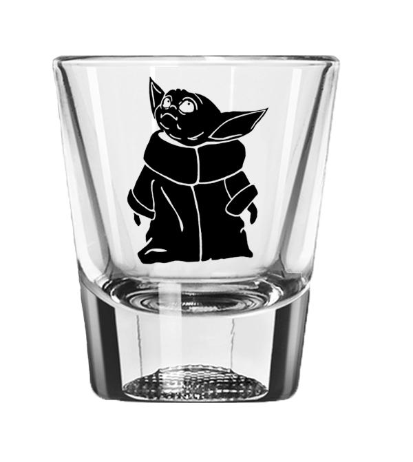 Baby Yoda Shot Glass Shot Glass Glass Stars Shot Glasses