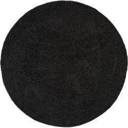 benuta Essentials Hochflor Shaggyteppich Swirls Anthrazit ø 80 cm rund - Bettvorleger für Schlafzimm #beautyessentials
