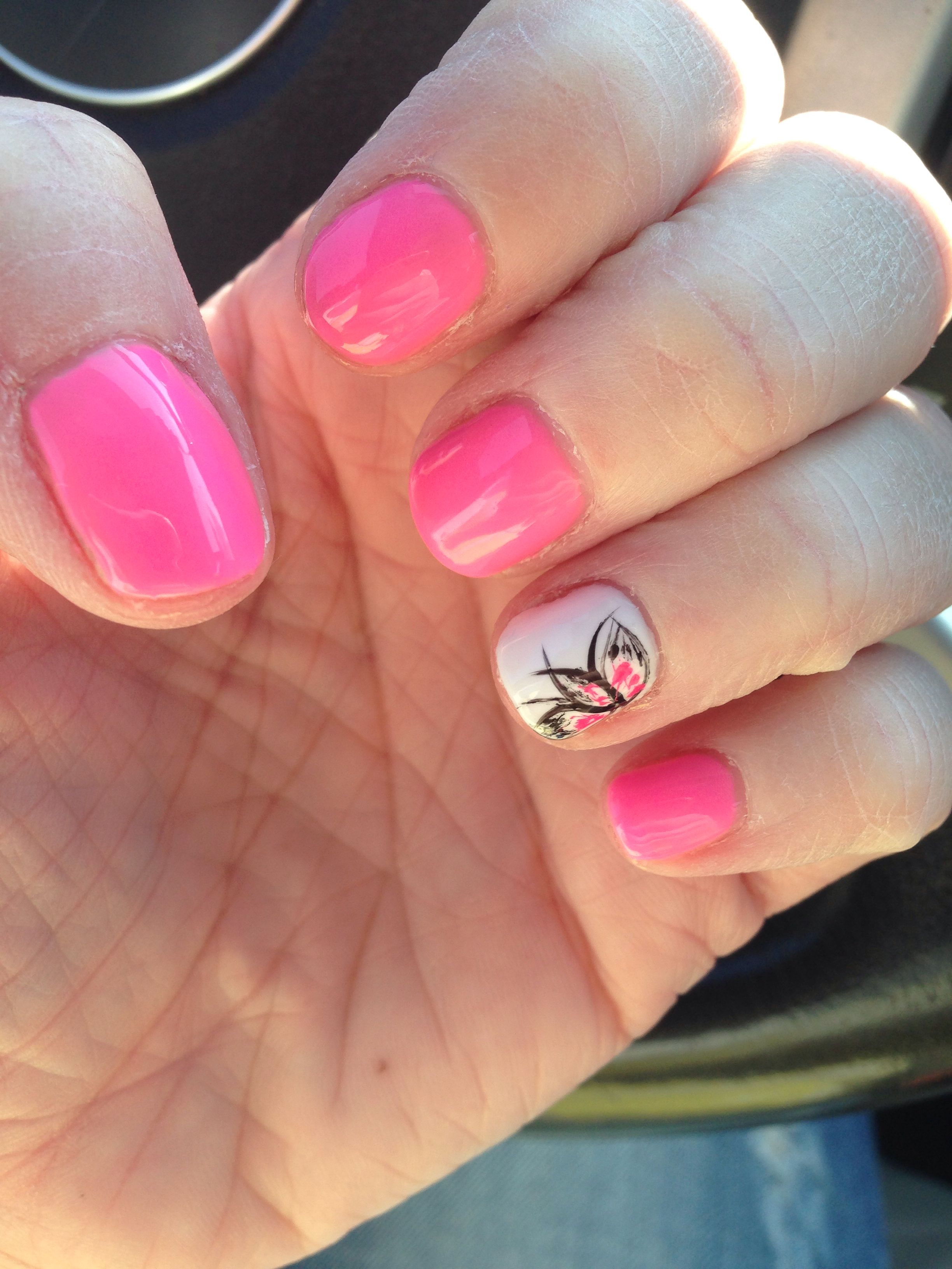 Fun Spring Summer Shellac Nails