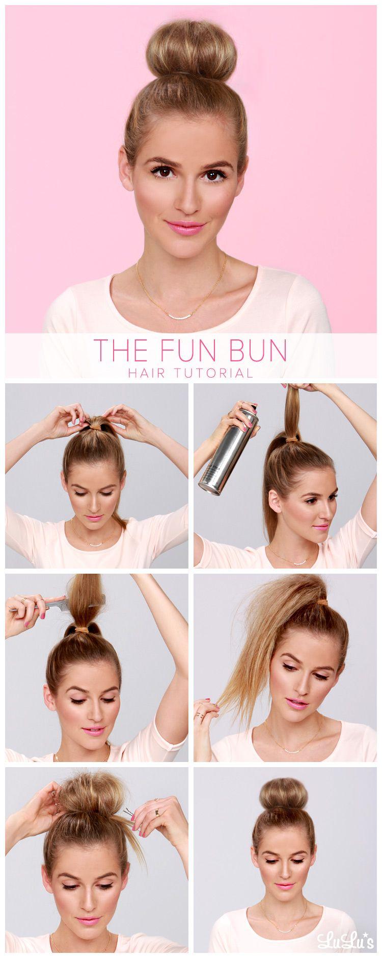 Lulus How-To: The Fun Bun Hair Tutorial   Hairstyles ...