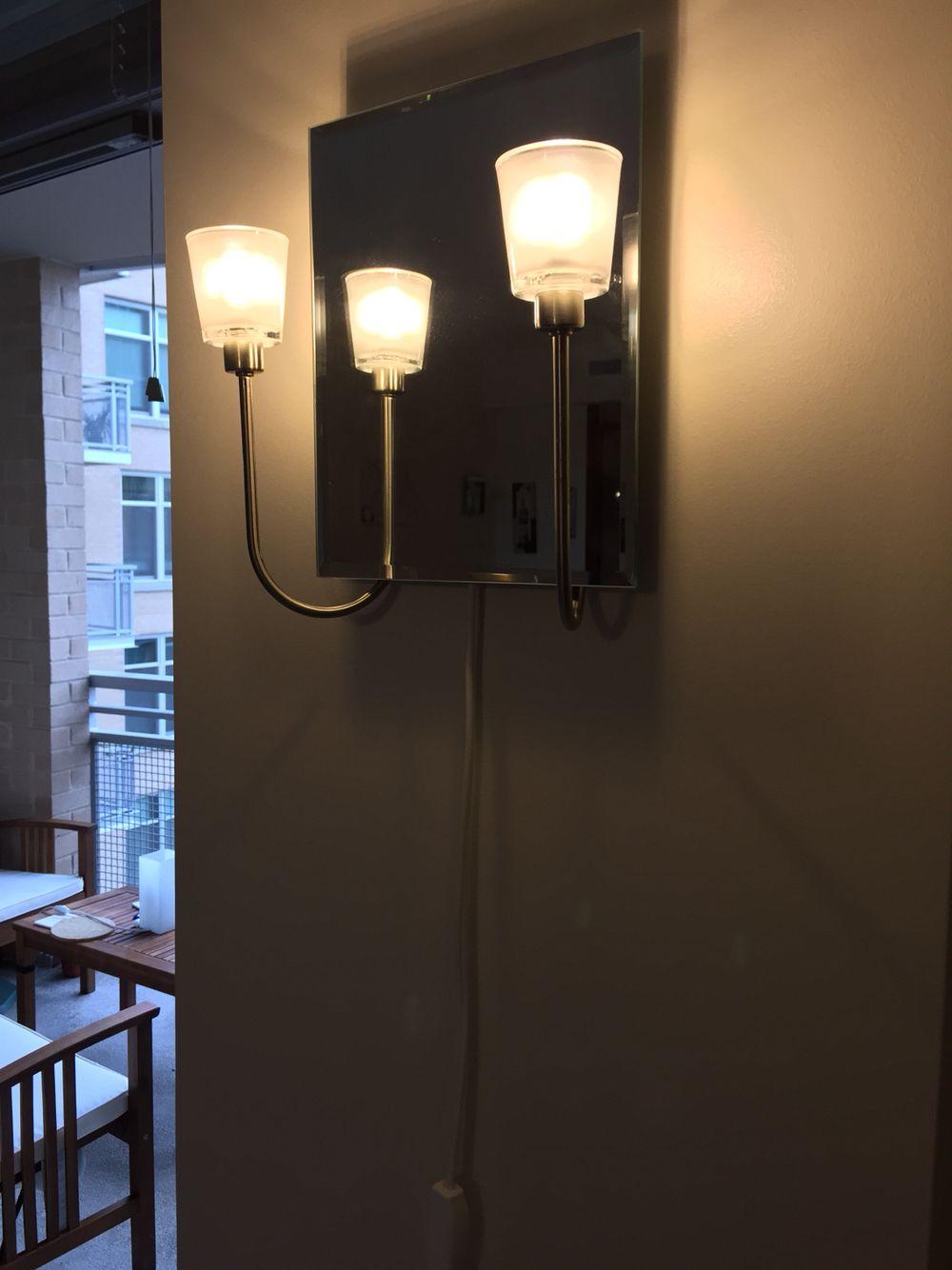 IKEA kryssbo wall sconce with mirror