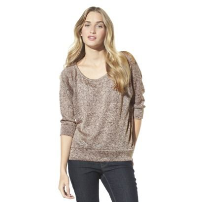 Xhilaration® Juniors Pointelle Back Sweater -  Assorted Colors