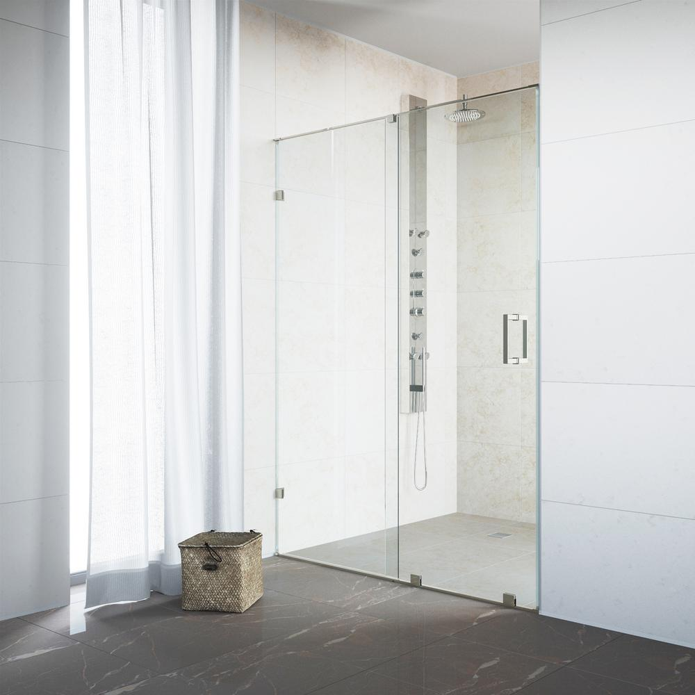 Vigo Ryland 46 To 48 In X 72 75 In Frameless Sliding Shower Door