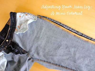 Taking in your jean leg. Mini tutorial.