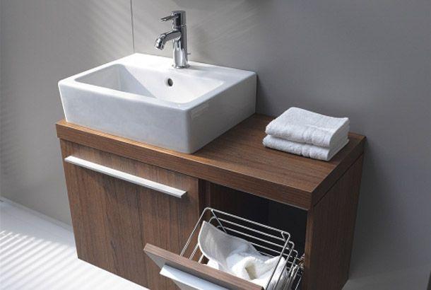 Eingebauter Wäschekorb Duravit Vero Xl Teak Badezimmer Duravit