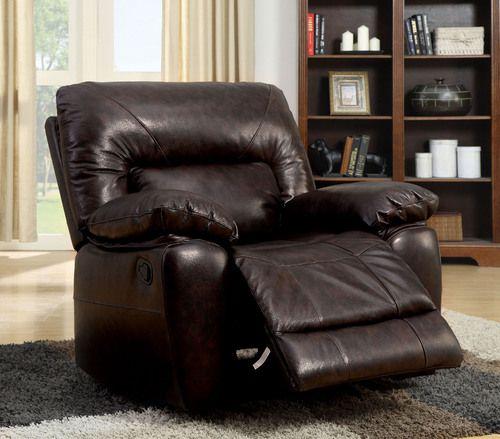 furniture of americastallion collection top grain leather recliner rh pinterest com