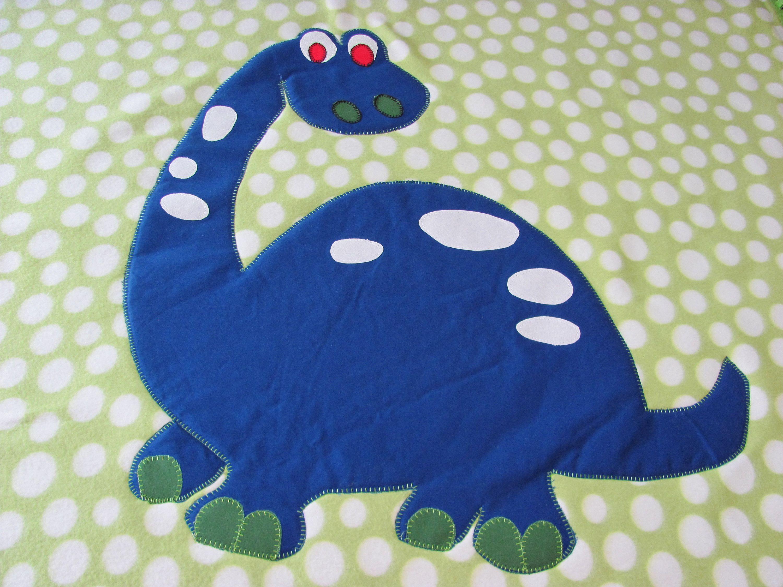 Blue Dinosaur Quilt Dino Baby Toddler Child Crib Green White Rag Quilt Dinosaur Quilt Baby Quilts Baby Crib Quilt