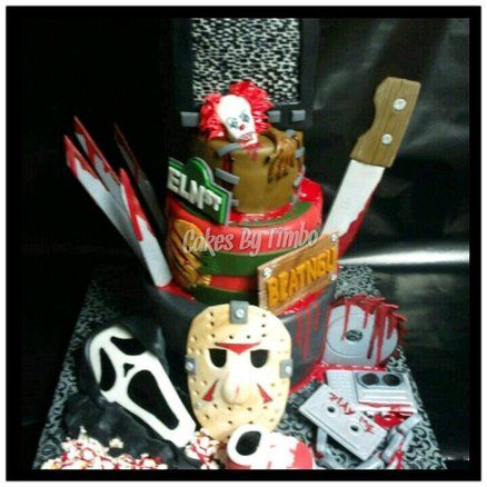 Excellent Horror Decor Horror Movie Cake By Timbo Cakesdecor Com Funny Birthday Cards Online Inifofree Goldxyz