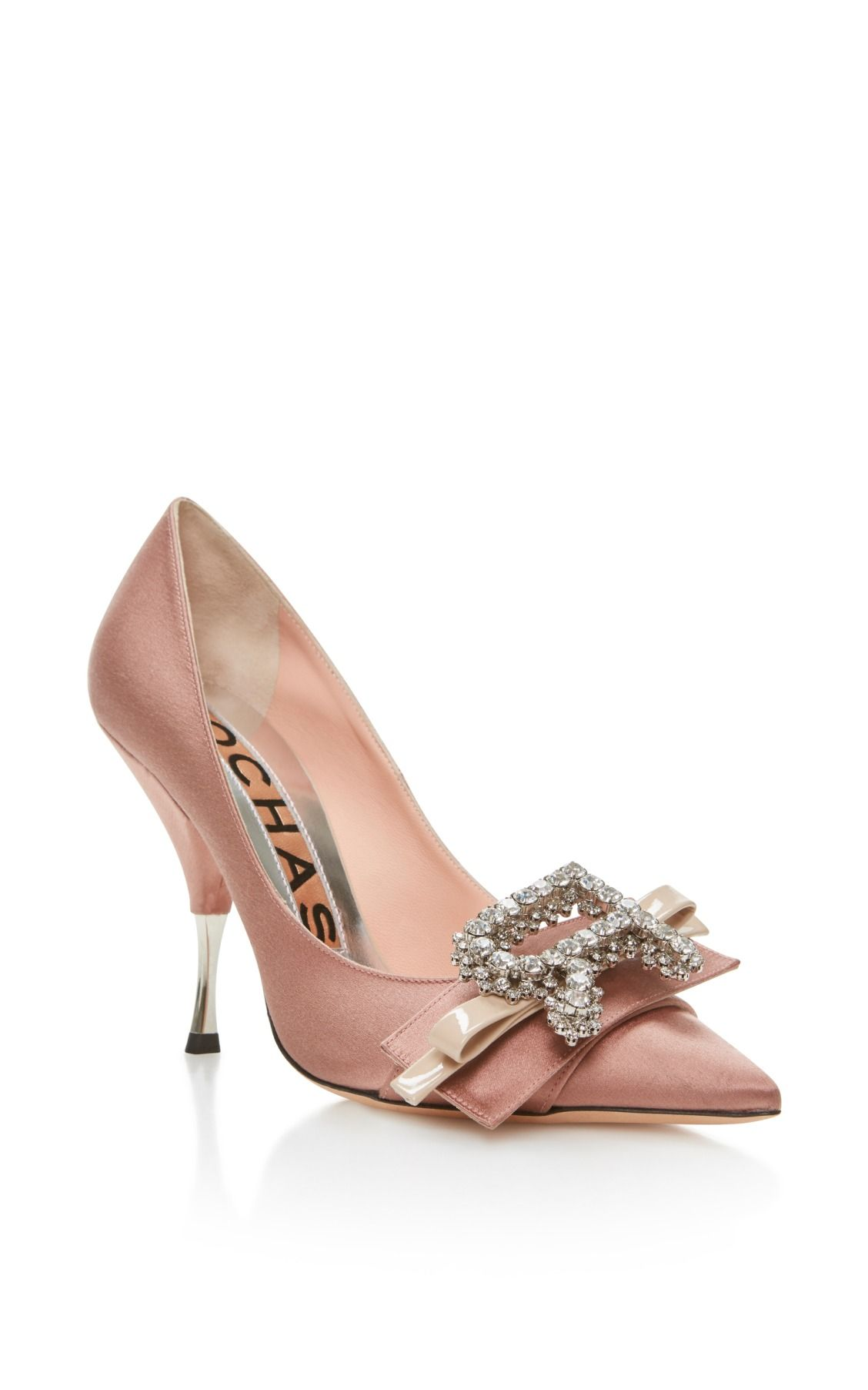 863cfc0d4e2 Dusty Rose Pump with Bow by Rochas | Weddings | Jeweled shoes, Shoes ...