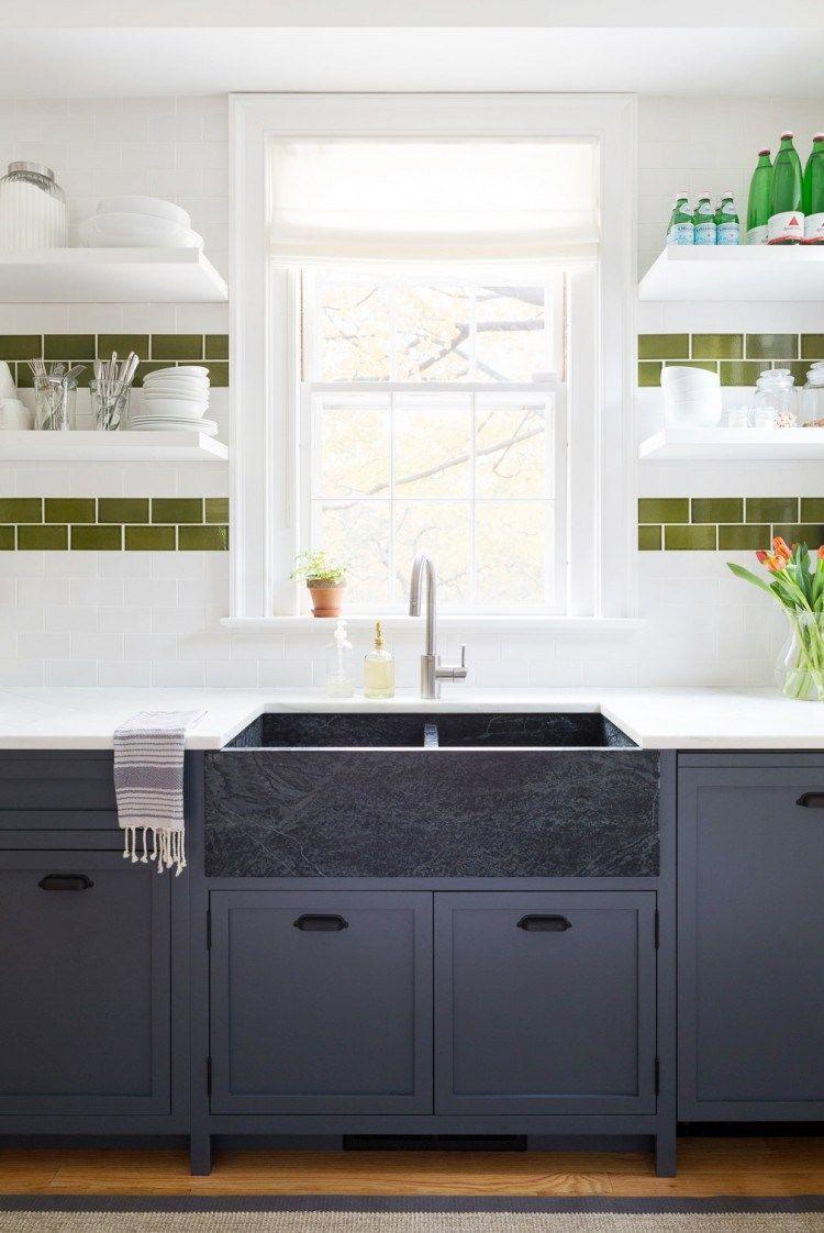 cutest kitchen remodel navy blue cabinets soapstone sink kitchen rh pinterest com