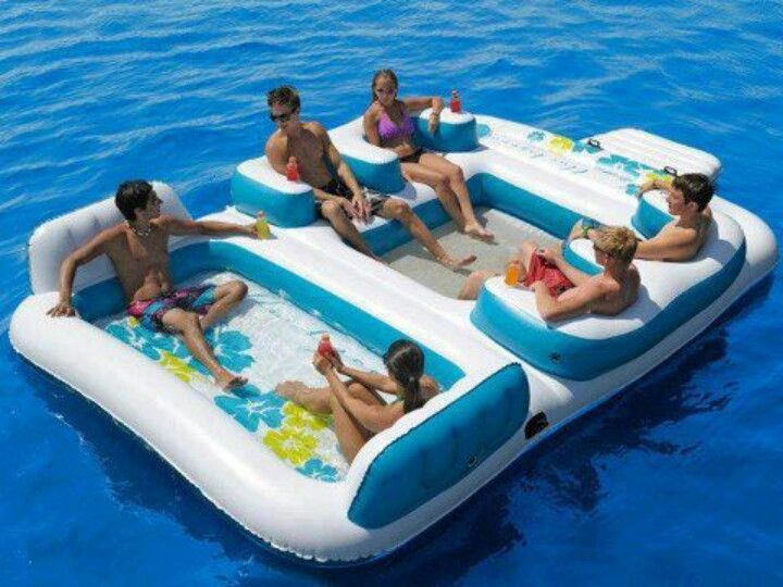 Omg want this its called the blue lagoon floating island!