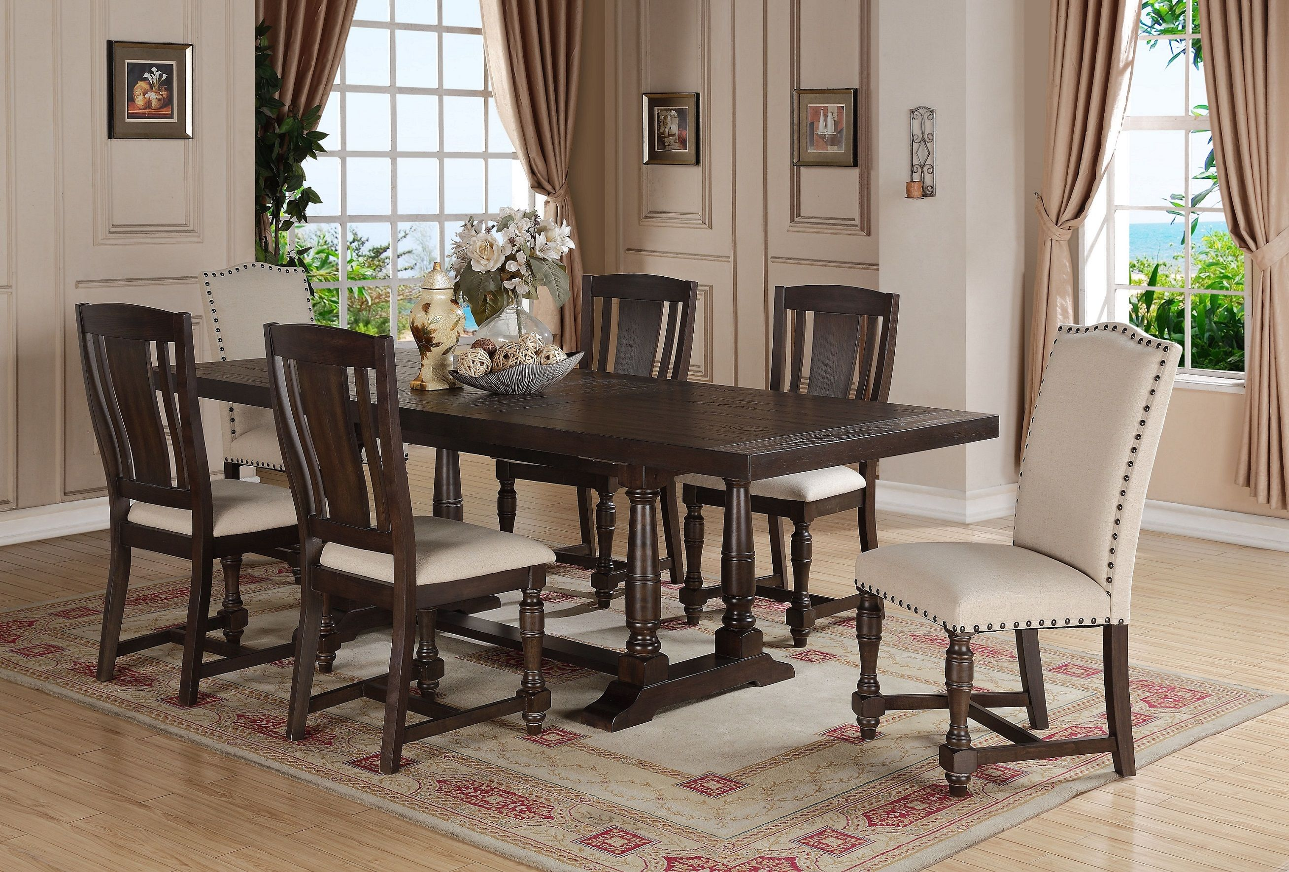 xcalibur trestle table dx14296 dining tables from winners only at