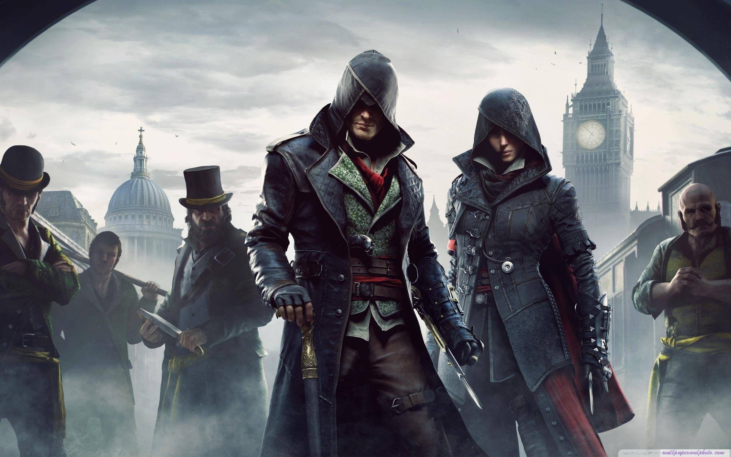 Assassins Creed Syndicate Hd 16 9 16 10 Desktop Wallpaper Widescreen Fullscreen Mobi Assassins Creed Evie Assassins Creed Unity Assassin S Creed Wallpaper