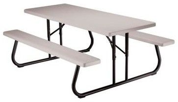 lifetime patio furniture 6 ft folding picnic table with benches rh pinterest ca